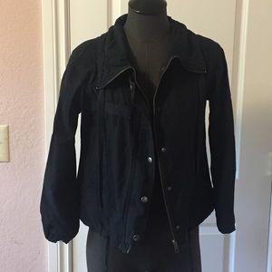 Black relaxed utility style jacket